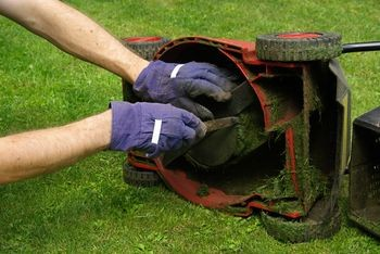 how to get a lawn mower blade off