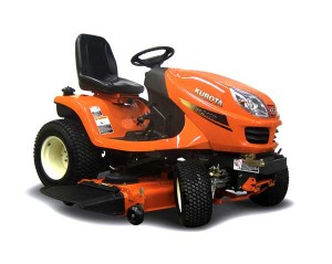 orange Kurota riding lawn mower