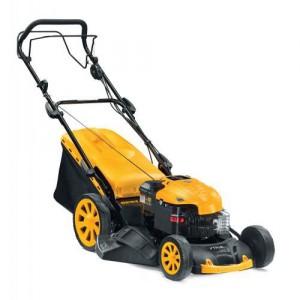 yellow lawn mower