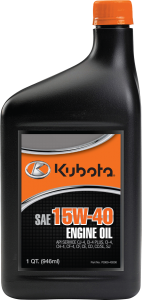 Kubota Also Offers Lubricants