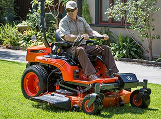 Kubota ZD 1000 Series zero-turn riding lawn mower.