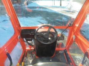 The interior of a Kubota tractor cab. (Courtesy: Kubota)