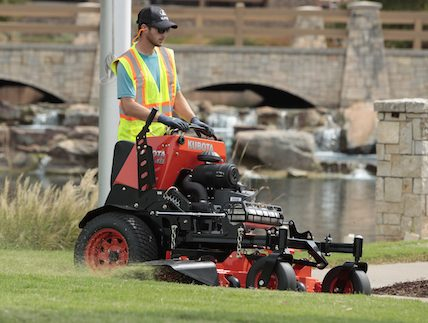 The Kubota SZ Series stand on lawn mower.