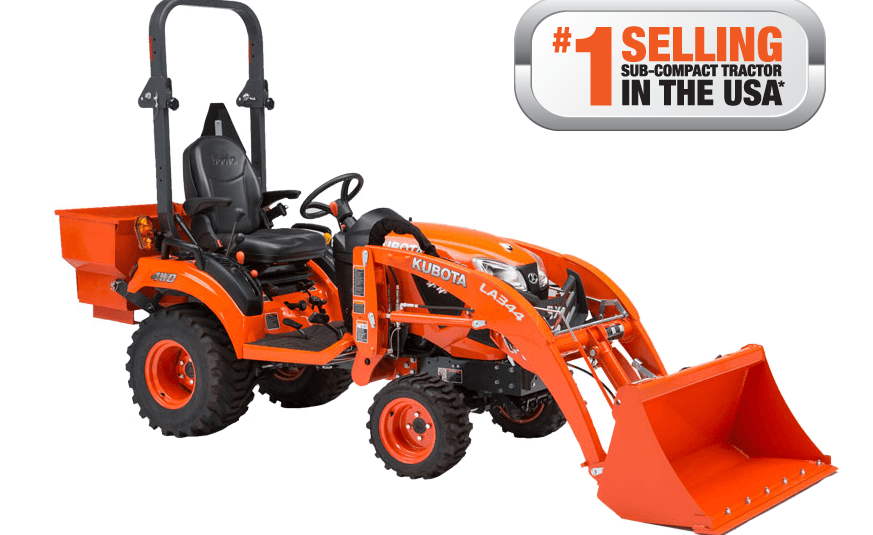 Kubota subcompact tractor. (Photo courtesy of Kobuta USA)
